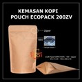 Kemasan Kopi Paper Metalized 200 gram + Zipper dan Valve