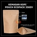 Kemasan Kopi Paper Metalized 400 gram + Zipper dan Valve