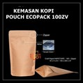 Kemasan Kopi Paper Metalized 100 gram + Zipper dan Valve