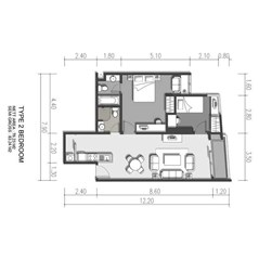 2 Bedroom ( unit 03dan 05)