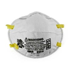 3M™ Particulate Respirator 8210, N95/ Masker kimia