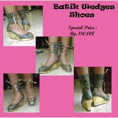 batik wedges shoes