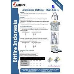 ALUMINIZED FIRE SUIT | ALUMINIZED CLOTHING | BAJU TAHAN API | BLUE EAGLE