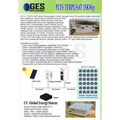 PAKET PLTS OFFGRID 15KWP INDONESIA