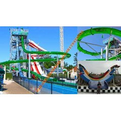 Jasa Kontraktor Waterpark Flatline Loop Waterslide