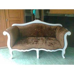 sofa suzan KS-05AJF velvet fabric white duco furnishing french furniture aura java classic furniture Indonesia
