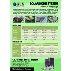 PAKET PLTS SOLAR HOME SYSTEM 50 Wp, 100 Wp, 200 Wp, 400 Wp ( SOLAR HOME SYSTEM-PLTS PNPM)