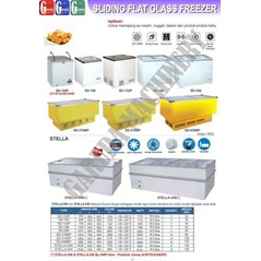 Sliding Flat Glass Freezer