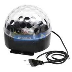 2014 Stroboscope 20w 6 Led Voice-activated Rgb Crystal Magic Ball Stage Effect Light Disco Dj Party Lighting 110v Free Shipping