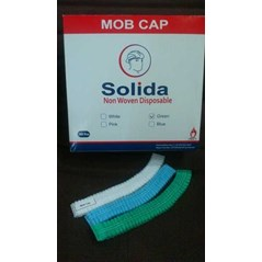 Mob Cap, Hairnet, Nurse Cap, Topi Pabrik Non Woven Disposible