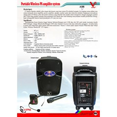 Portable Wireless PA amplifer system A88
