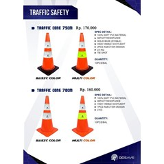 Traffic cone 70 cm GO-SAVE  basic color and multi color