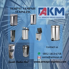 tempat sampah stainless steel