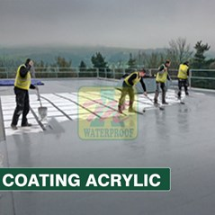 JASA APLIKASI WATERPROOFING COATING ACRILIK