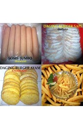 SOSIS JUMBO ( BRATWURST) DAGING BURGER dan AYAM - FRENCH FRIES