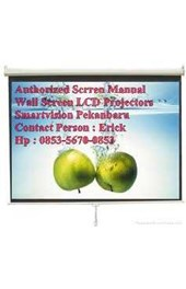 Authorized Manual Wall Scrren Layar Manual LCD Projector Di Pekanbaru Provinsi Riau