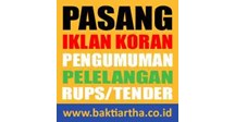 pt baktiartha perdana, biro jasa, pasang iklan koran, pengumuman, pengumuman lelang, lelang umum, pelelangan, laporan keuangan, rups, rapat umum pemegang saham::: phone: 021- 7403423 / 0813 - 1019 0842- email: marketing@baktiartha.co.id