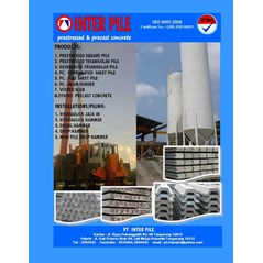 pt inter pile ( pc. square pile_ pc sheet pile flat & corrugated- pc. beam/ girder) dan panel pagar beton