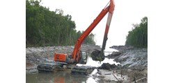 ULTRATREX INDONESIA amphibious excavator swamp backhoe