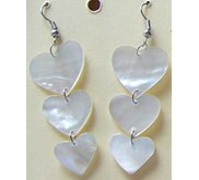 Mother Of Pearl Shell Earring White / Anting Kerang Mutiara Putih