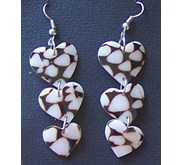 Conus Shell Earring Heart / Anting Kerang Hati