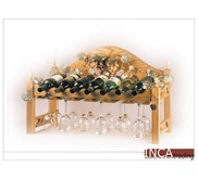 BALI FURNITURE :WINE RACK WITH LEG SUPPORT F1003