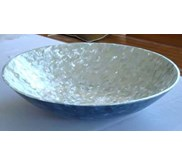 pinctada maxima with blue coral bowl