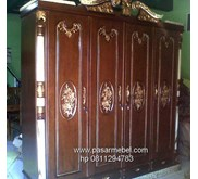 Almari Pintu 4 Finishing warna Gold Marmer