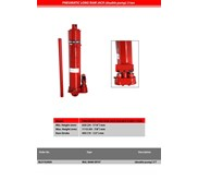 Bullocks Pneumatic Long Ram Jacks 3 Ton Double Pump