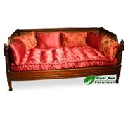 Antique Furniture Sofa Cane Day Bed With Cushions | antique furniture living room sofas | Sofa antique indonesia | antique jepara furniture