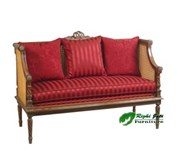 Antique furniture Sofa Louis XVI Red | mebel antik | mebel taman | mebel rotan | kerajinan kayu | mebel dalam ruang |