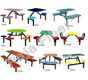 Furniture Restoran | Furniture Food Court | Dining Set Fiberglass