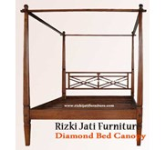Diamond Bed Canopy l Bed Minimalis l Bed Antique l Bed Ukir Jepara l French Furniture l produsen furniture produsen french furniture indonesia