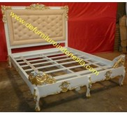 Queen Size Bedframe with endboard, french furniture, classic furniture | defurnitureindonesia DFRIB-29