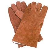 WELDING GLOVES 14 INCH BROWN