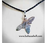Necklace Art Carving Half Buterfly / Kalung Kerang Ukir Kupu Kupu