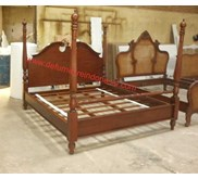Tempat Tidur Classic Furniture Salima Bed Canopy jepara furniture | defurnitureindonesia DFRIB-50