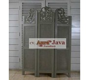 folding screen at border home painted furnishing Sekat ruang lipat AN-DRE-6 mebel jepara aura java furniture french style