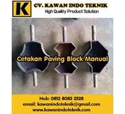 Cetakan Paving Block Manual sistem Tumbuk