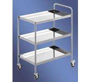 TROLLEY MAKANAN 3 SUSUN / FOOD TROLLEY 3 TIERS ( 1 HANDLE ) SS304