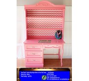 Furniture Meja Belajar Modern Cat Duco Pink Tammy