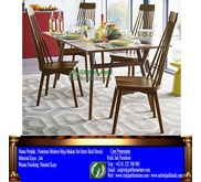 Furniture Modern Meja Makan Set Retro Bold Strock