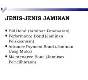 Jaminan Pemeliharaan (Maintenance Bond)