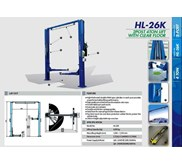 TWO POST LIFT CLEAR BASE FRAME HESHBON HL-26K (LIFT PERBAIKAN MOBIL)