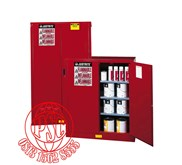 Red Safety Lemari Cabinet For Combustible Justrite