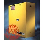 Yellow Safety Lemari Cabinet For Flammable Justrite