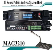 10 Zones Public Address System Host