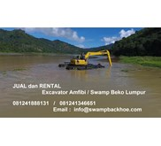 excavator terapung (swamp /  floating excavator ) ultratrex indonesia