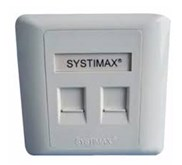 FACE PLATE SYSTIMAX 2HOLE (108 168 469)