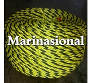TIGER ROPE POLYETHYLENE 3 STRAND BLACK/YELLOW CIR 2-3/4